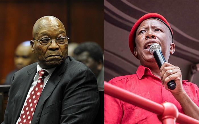 FILE: Jacob Zuma and Julius Malema. Picture: Eyewitness News.