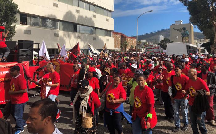 FILE: Saftu members march to Parliament in Cape Town in 2018. Picture: EWN.
