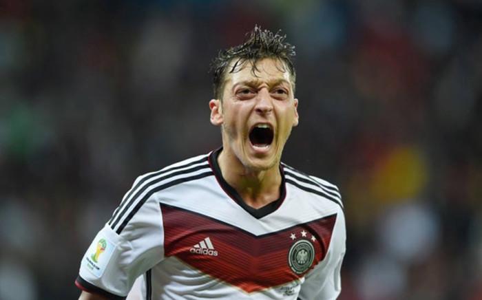 Germany's Mesut Ozil celebrates his goal against Algeria in the 2014 Fifa World Cup round of 16 on 30 June 2014. Picture: Facebook.