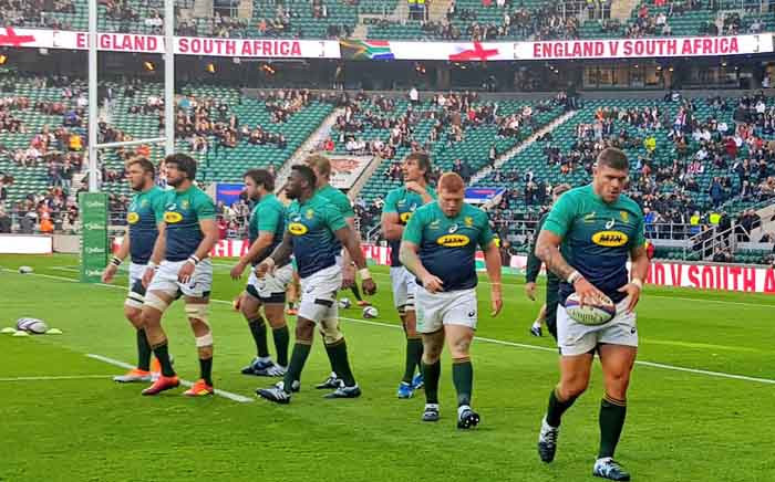 England beat Springboks side at Twickenham for their second consecutive win over South Africa in 2018. Picture: @Springboks/Twitter.