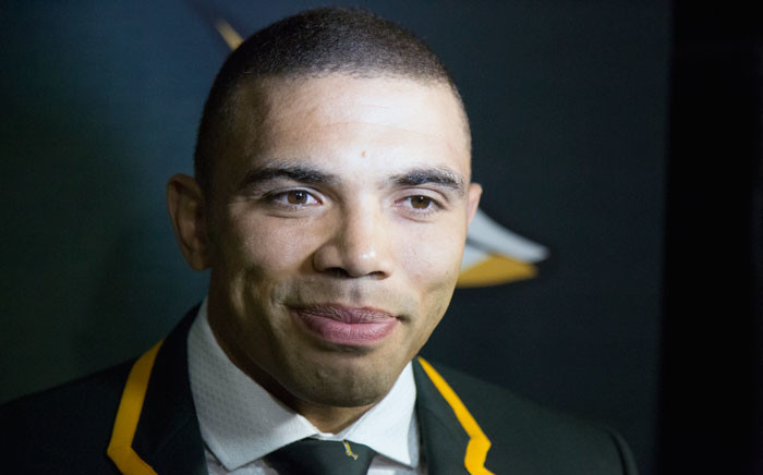 Bryan Habana speaks to journalists after being selected for the Springbok squad taking part in the RWC 2015 tournament. Picture: Anthony Molyneaux/EWN