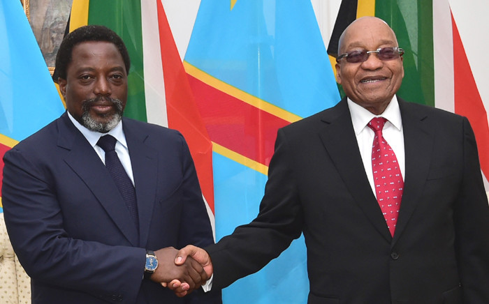President Jacob Zuma meets with President Joseph Kabila of the Democratic Republic of Congo during his official visit to South Africa on 25 June 2017 to attend the 10th session of the South Africa-Democratic Republic of Congo Bi-National Commission. Picture: GCIS