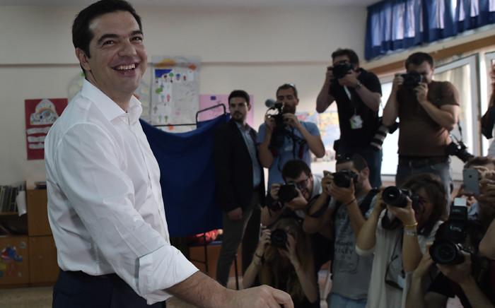 Greek Prime Minister Alexis Tsipras voted during the Greek referendum in Athens on 5 July, 2015. Picture: AFP.