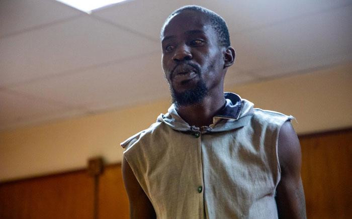 Aubrey Manaka, the man accused of Capricorn TVET college student Precious Ramabulana's rape and murder and a minor's rape, in the Morebeng Magistrates Court in Molemole on 30 January 2020. Picture: Kayleen Morgan/EWN.