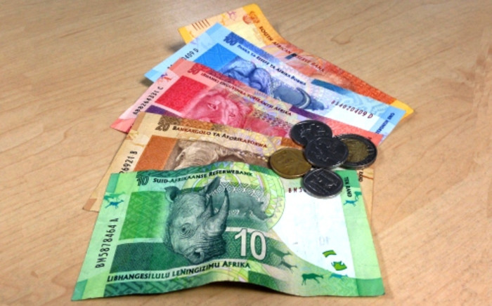Charts showed that the rand had broken through the top of its four-year upward sloping channel trend line. Picture: EWN.