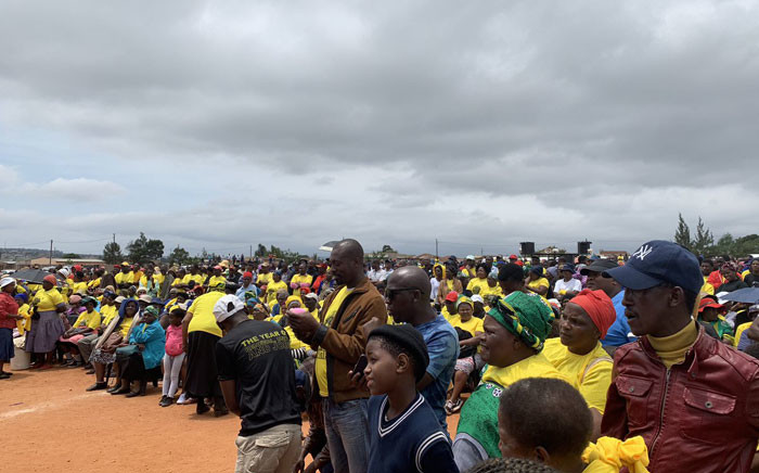 African National Congress supporters seen during the party's Thuma Mina campaign in Mpumalanga. Picture: @ANCMPUMALANGA/Twitter