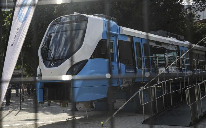 Prasa has unveiled one of two new trains in Cape Town as part of their modernisation programme. Picture: Cindy Archillies/EWN