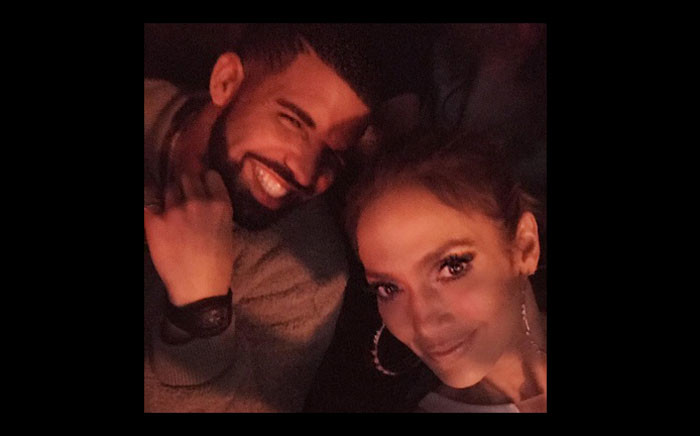 A selfie of Jennifer Lopez and Drake. Picture: @jlo/Instagram.