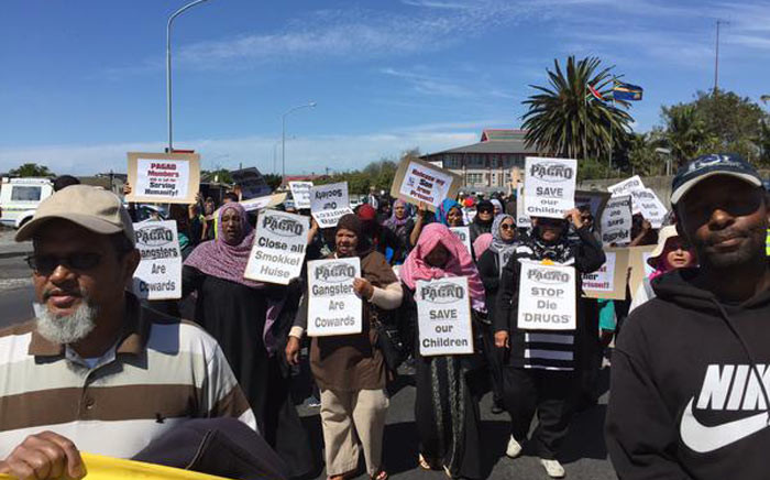 People Against Gangsterism and Drugs (Pagad) leads a march down Klipfontein Road in Cape Town on Saturday 17 October 2015 against gangsterism, drugs and escalating crime. Picture: Xolani Koyana/EWN