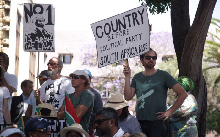 FILE: Civil organisations marched in Cape Town on 2 November 2016 against state capture. Picture: EWN.