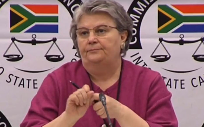 FILE: A screengrab of Barbara Hogan appearing at the Zondo Commission of Inquiry into state capture on 12 November 2018.