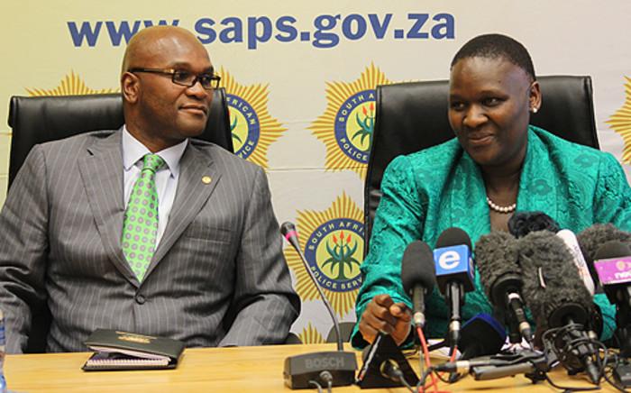 FILE: Police Minister Nathi Mtethwa and National Police Commissioner Riah Phiyega. Picture: Taurai Maduna/EWN
