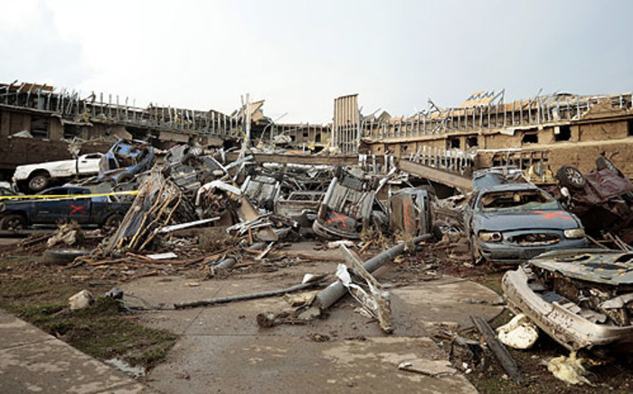 The suburb of Moore in Oklahoma was reduced to rubble after a tornado hit. 100 people were killed. Picture: AFP