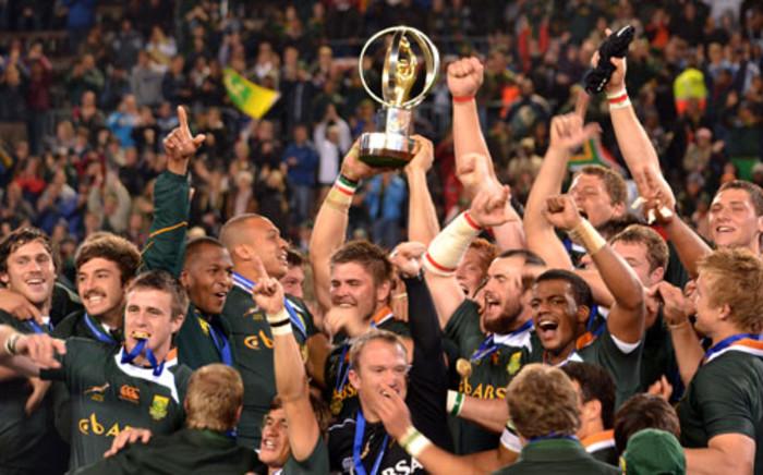 The Junior Springboks celebrate their IRB Junior World Championship victory