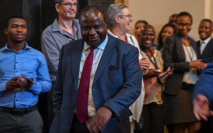 Finance Minister Tito Mboweni. Picture: @TreasuryRSA/Twitter