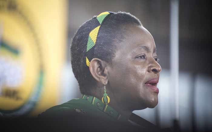 """ANCWL President Bathabile Dlamini says Nkosazana Dlamini Zuma was reduced to a """"president's ex-wife"""" as opposed to being recognised as a candidate like the male politicians who were running for ANC's top spot. Picture: Thomas Holder/EWN."""
