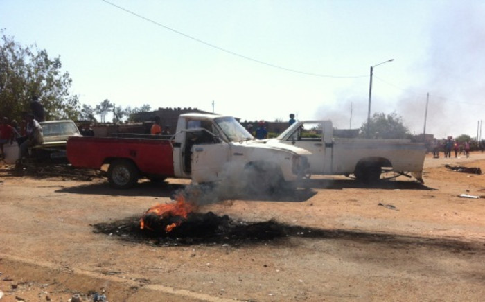 The aftermath of service delivery protests in Christiana near Bloemhof in the North West. Picture: Lesego Ngobeni/EWN.