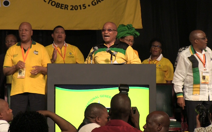 FILE: President Jacob Zuma at the ANC's NGC in Midrand on 09 October, 2015. Picture: Kgothatso Mogale/EWN.