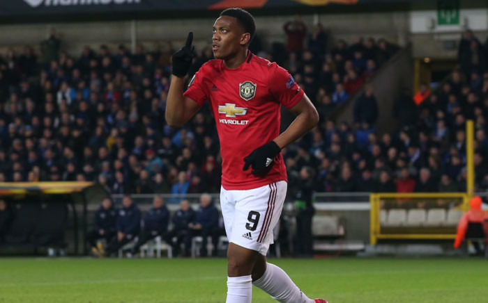 Manchester United forward Anthony Martial celebrates his goal against Club Brugge in their UEFA Europa League match on 20 February 2020. Picture: @ManUtd/Twitter