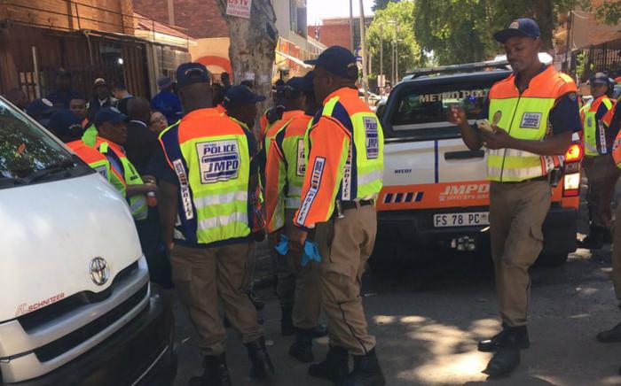 FILE: Johannesburg Metro Police Department (JMPD) officers on patrol in Johannesburg. Picture: @JMPDSafety/Twitter