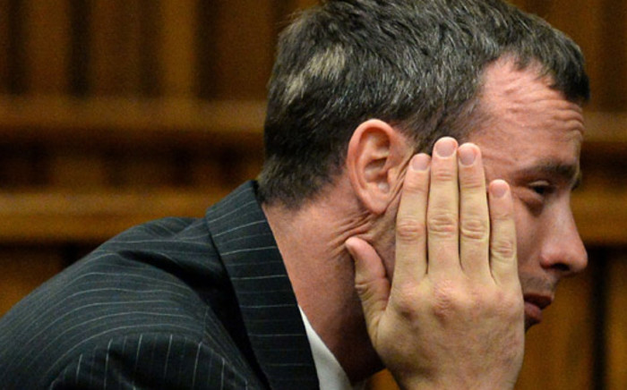 An emotional Oscar Pistorius at the High Court in Pretoria during his murder trial on 10 March 2014. Picture: Pool.