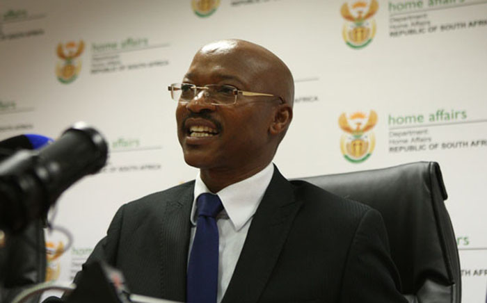 FILE: Home Affairs Director-General Mkuseli Apleni. Picture: GCIS