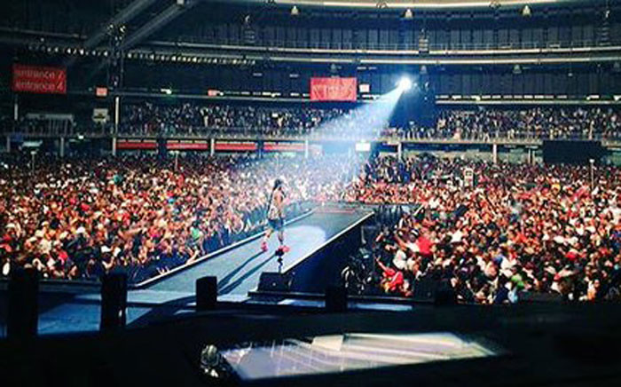 Cassper Nyovest sold out the Ticketpro Dome on 31 October, 2015. Picture: Twitter @AustinMalema.