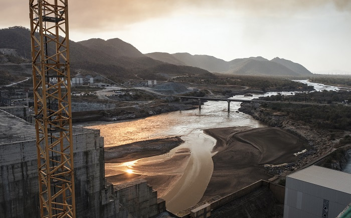 A general view of the Blue Nile river as it passes through the Grand Ethiopian Renaissance Dam (GERD), near Guba in Ethiopia, on 26 December 2019. Picture: AFP