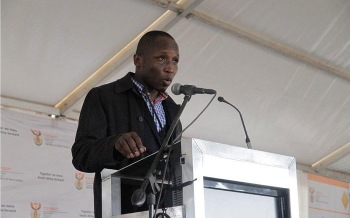 Collins Letsoalo at a Prasa briefing. Picture: @PRASA_Group/Twitter