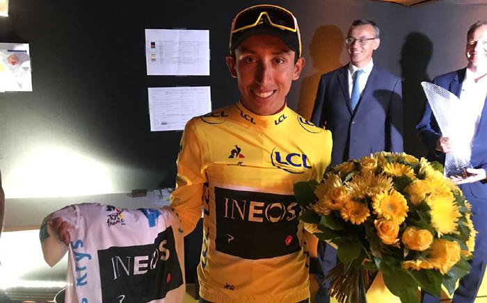 Tour de France 2019 winner Egan Bernal of Team Ineos. Picture: @TeamINEOS/Twitter