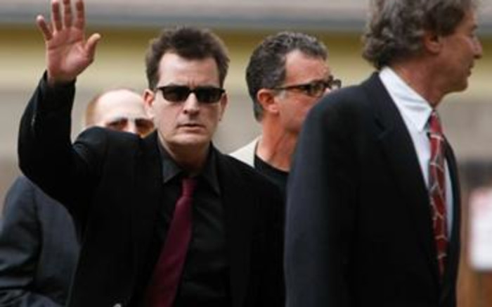Charlie Sheen arrives at the Pitkin County Courthouse on August 2, 2010 in Aspen, Colorado. Picture: AFP.