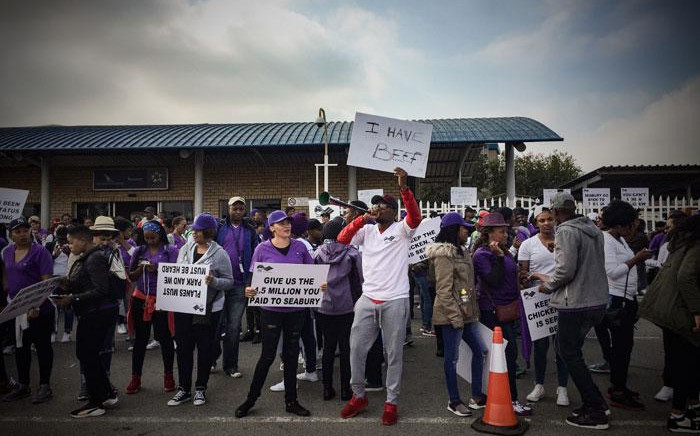 SAA cabin crew members on strike. Picture: Thomas Holder/EWN