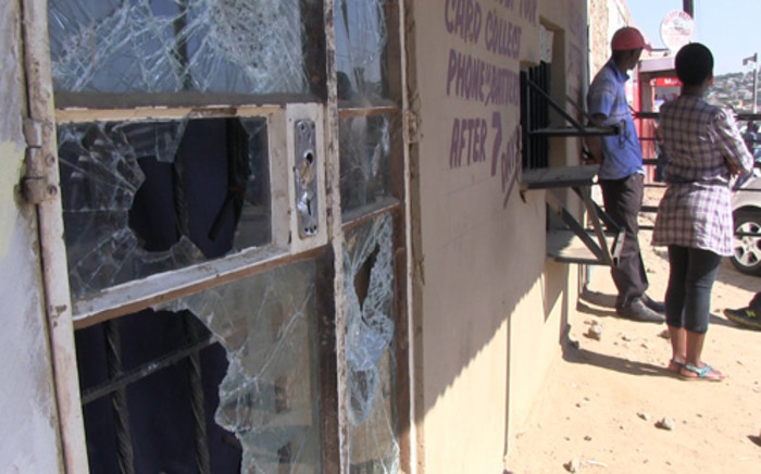 Looted Diepsloot shop. Picture:EWN