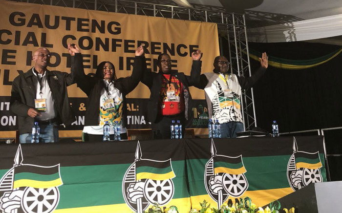 FILE: The Gauteng ANC's leadership from left Parks Tau, Nomantu Nkomo-Ralehoko, Panyaza Lesufi and David Makhura. Picture: EWN.