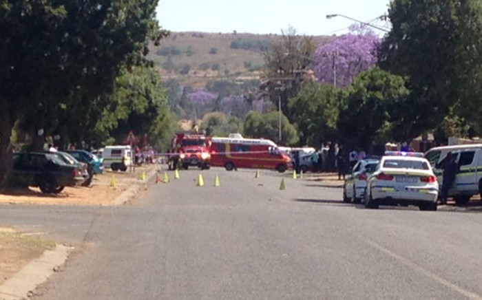 The scene on Rebecca Street in Pretoria West after an explosion at a scrapyard on 20 October 2014. Picture: Vumani Mkhize/EWN