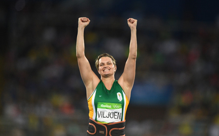 FILE: South Africa's Sunette Viljoen competes in the Women's Javelin Throw Final during the athletics event at the Rio 2016 Olympic Games at the Olympic Stadium in Rio de Janeiro on 18 August, 2016. Picture: AFP.