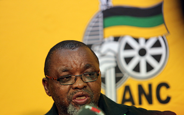 African National Congress (ANC) Secretary General Gwede Mantashe addresses the media at the party's NGC in Midrand on 9 October 2015. Picture: Reinart Toerien/EWN