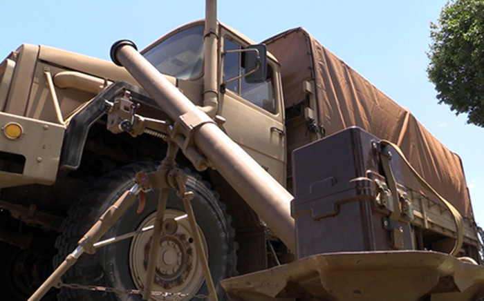 FILE: A SANDF vehicle seen in Johannesburg on 9 November 2013 during a parade. Picture: EWN.
