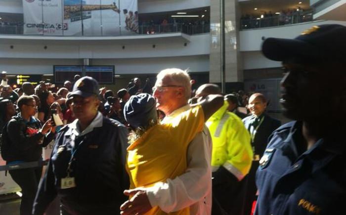 Bafana Bafana Coach Gordon Igesund at OR Tambo International Airport in 17 June 2013. Picture: Lelo Mzaca/EWN.