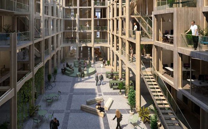"""The """"aula modula"""" apartment block concept, from Studio Belem, is aimed at young families and flatshares, where the number of inhabitants may vary. Picture: Studio Belem"""