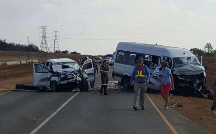 Two minibus taxis and a bakkie collided. Picture: @ER24EMS.