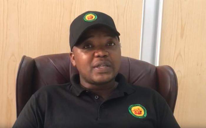 A YouTube screengrab of KwaZulu-Natal ANCYL secretary Thanduxolo Sabelo.