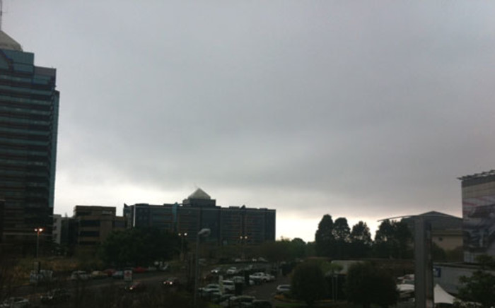 FILE: Rain clouds hanging over the Sandton CBD. Picture: EWN.