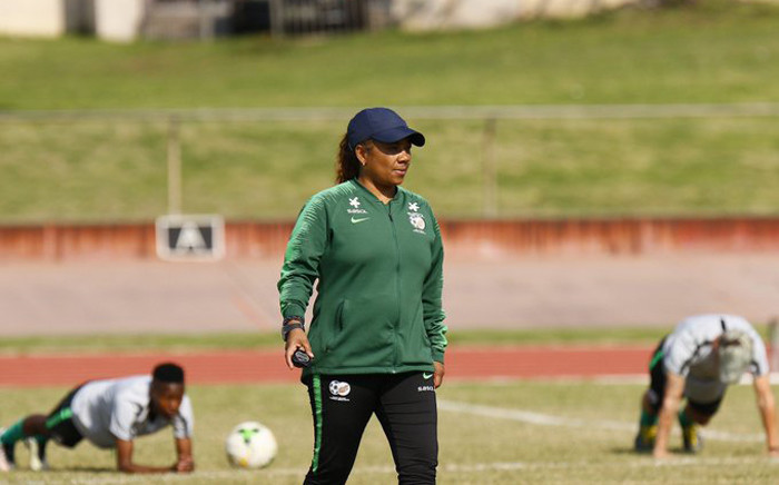 Banyana Banyana coach Desiree Ellis takes her squad through a training session. Picture: @Banyana_Banyana/Twitter