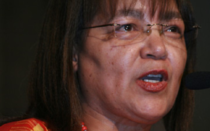 Patricia de Lille leader of the Independent Democrats addresses delegates at the national convention in Sandton convened by former defence minister Mosiuoa Lekota and former Gauteng Premier Mbhazima Shilowa on 1 November 2008. Picture: Taurai Maduna/Eyewi