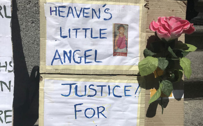 FILE: A poster for Lache Stols outside the Cape Town High Court on October 24, 2017. Picture: Monique Mortlock/EWN.