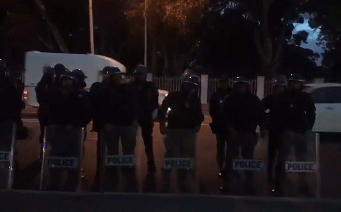 Police seen in Kensington during an anti-crime protest on 25 September 2018. Picture: Shamiela Fisher/EWN