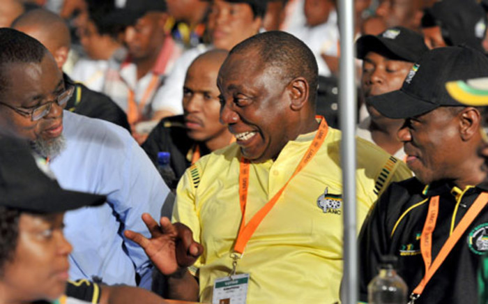 Gwede Mantashe, Cyril Ramaphosa and Paul Mashatile who have accepted nomination for Postition of Secretary general, Deputy President and Treasurer respectively at the ANC's elective conference. Picture: GCIS.