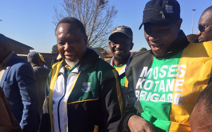 Former President Kgalema Motlante along with ANC provincial chairperson Paul Mashatile on an electioneering campaign trail in Soweto. Picture: Masa Kekana/EWN.