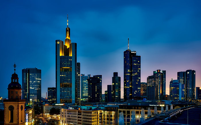 The famous skyline with its banking district is pictured in Frankfurt. Picture: Pixabay.com.